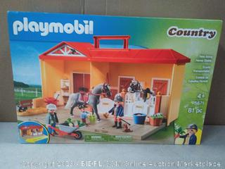 Playmobil Country Farm Take Along Horse Stable NEW (online $29)