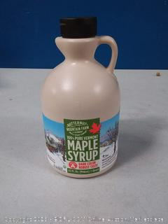 100% pure Vermont maple syrup grade A