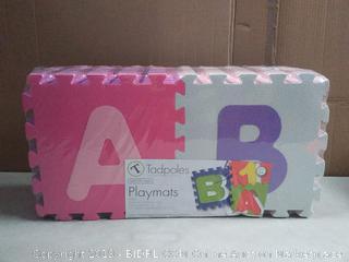 Tadpoles Soft EVA Foam 36 Piece ABC Playmat Set, Pink