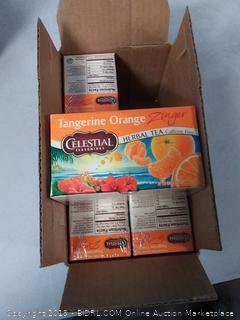 Celestial Seasonings Tangerine Orange Zinger Herbal Tea