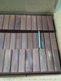 Eco Green Wood lawn edging a 8-pack