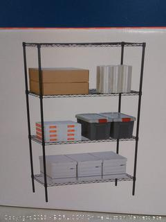 """Honey-Can-Do 4-Tier Steel Wire Shelf with 350-Pound Capacity, 18"""" L x 48"""" W x 72"""" H, Black(Factory Sealed) COME PREVIEW!!!!"""