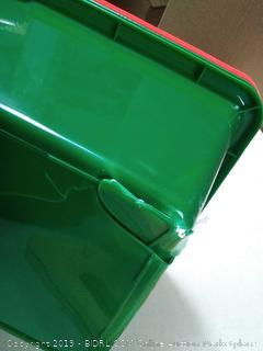 Tot Tutors Kids' Toy Storage Organizer with 12 Plastic Bins(one bin cracked)