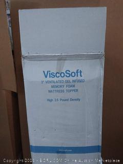 "ViscoSoft 3"" ventilated gel infused memory foam mattress"