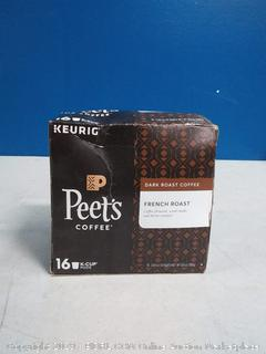 Peet's Coffee French roast 16 K-Cup pods