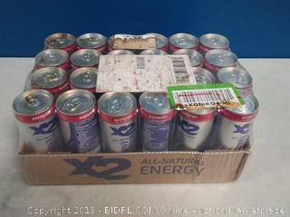 X2 all natural healthy energy drinks raspberry 24 pack
