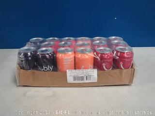 bubly Sparkling Water, Berry Peachy Variety Pack, 12 fl oz. Cans, (Pack of 18)- missing 1 can