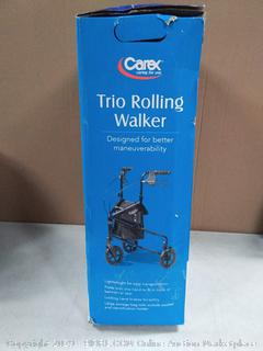 Carex 3 Wheel Walker for Seniors, Foldable, Rollator Walker with Three Wheels, Height Adjustable Handles (online $98)