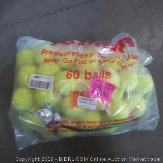 pressureless tennis balls pack of 60 possibly not full quantity