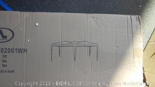 charaHOME 10 x 20 Canopy Tent Pop Up Portable Shade Instant Heavy Duty Outdoor Gazebo White Canopy