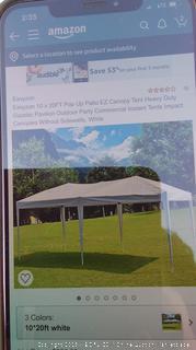 EzyZon 10x20FT Pop Up Canopy Tent