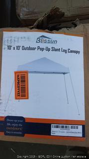Blissun 10'x10' Outdoor Pop-Up Slant Leg Canopy