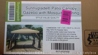 Sunnyglade Patio Canopy Gazebo with Mosquito Netting