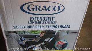 Graco Baby Extend2Fit Convertible Car Seat Infant Child Safety Binx