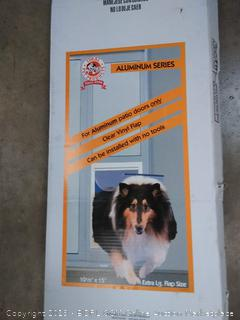 fast fit patio pet door aluminum series 10 and 1/2 x15 inch