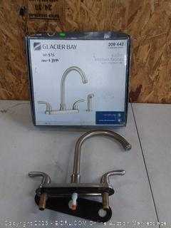 Glacier Bay stainless steel Builders kitchen faucet with side sprayer (missing side sprayer)