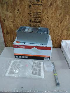 NuTone ventilation fan with light and heater