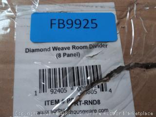 Diamond weave room divider 8 panel (online $150)