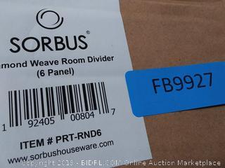 6-Panel Room Divider (Espresso) – Sorbus Home (online $119)