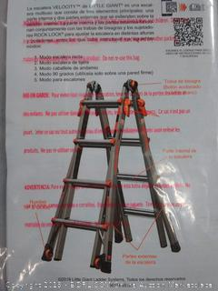 Little Giant 17-Foot Velocity Multi-Use Ladder, 300-Pound Duty Rating, 15417-001 broken in peace needs fixing