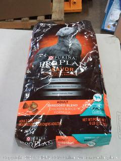 Purina Pro Plan adult shredded blend Chicken & Rice Formula dog food 6lb bag