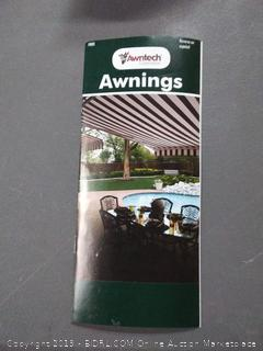 Awntech 4-Feet New Yorker Window/Entry Awning, 56-Inch Height by 36-Inch Diameter, Forest Green/White (Online $580)
