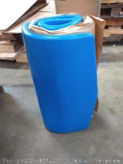 "Texas Recreation Sunray 1.25"" Thick Swimming Pool Foam Pool Floating Mattress, Bahama Blue"