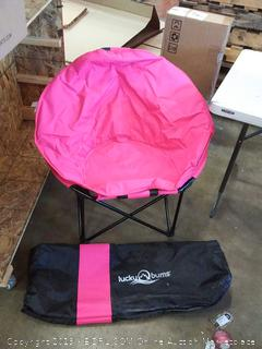lucky bums pink pool chair