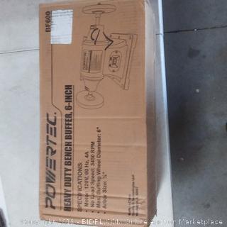 heavy duty bench buffer 6in Powertech brand