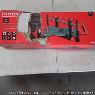 Craftsman clamping miter box with saw 22 in