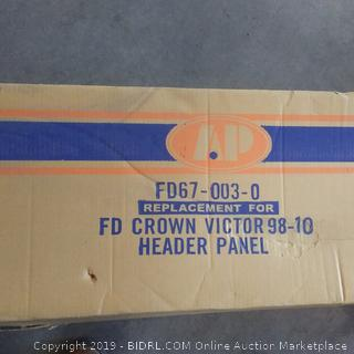 OE replacement Ford Crown Victoria header panel