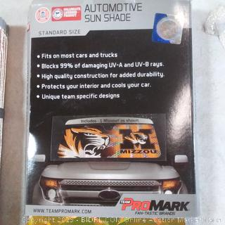 Automotive sun shade standard size 23in by 57 in