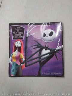Mead Disney The Nightmare Before Christmas 12x12 Monthly Wall
