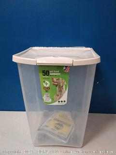 50 lb pet food container