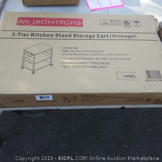 3 tier Kitchen Stand Storage Cart