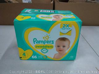 Pampers Swaddlers 66 diapers size 4