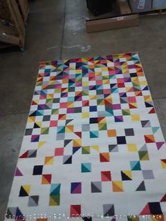 Carnival multicolor Rug (5 ft x 8 ft)