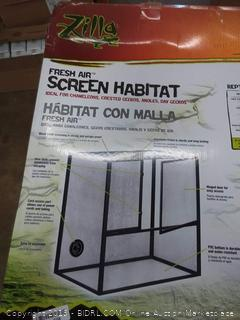 Zilla fresh air screen habitat ideal for chameleons crested geckos and Nola's day geckos