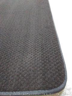 resistant carpe indoor area rug floor mat Black 3 feet x 5 feet