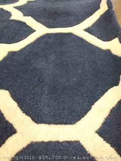 Cypress collection design C1047 Rug blue size 160 x 220