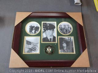 United States Army picture with frame