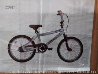 razor BMX and freestyle bike white and pink 20 inch