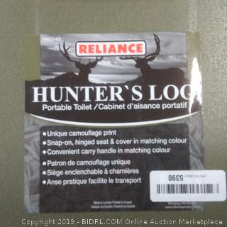 Hunter's loo Reliance brand portable toilet