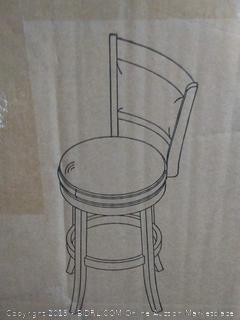 Ballin cast 29 inch bar stool black (online $97)