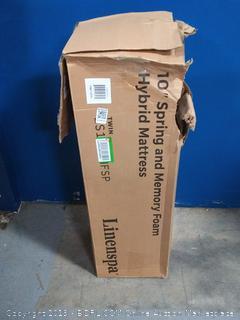 10 inch spring and memory foam hybrid mattress twin (online $135)