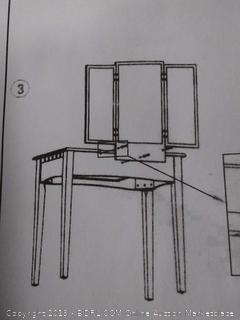 Vanity Set Furniture Home Bedroom Chair Wood Stool Adjustable (online $101)
