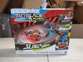 Beyblade Burst Turbo Slingshock Rail Rush Battle Set -- Complete Set with Burst Beystadium, Battling Tops, & Launchers -- Age 8+