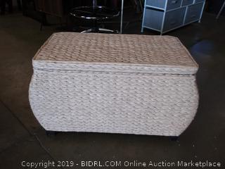Oriental Furniture storage box  cream