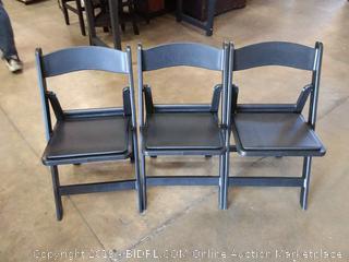 black vinyl chairs 3 count