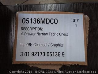 4 drawer narrow fabric chest
